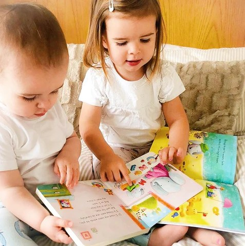 Chat Play Read - Brother and Sister Reading Together