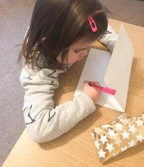 Writing a letter to the dummy fairy