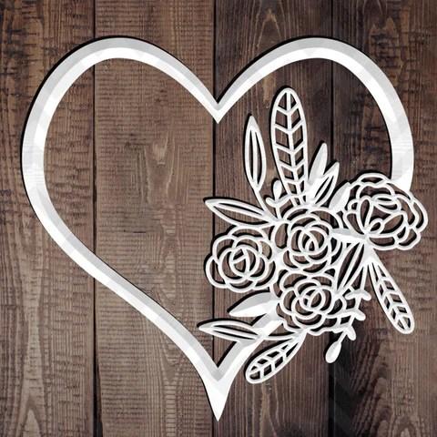 Heart papercut template