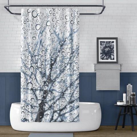 blue shower curtains metro shower