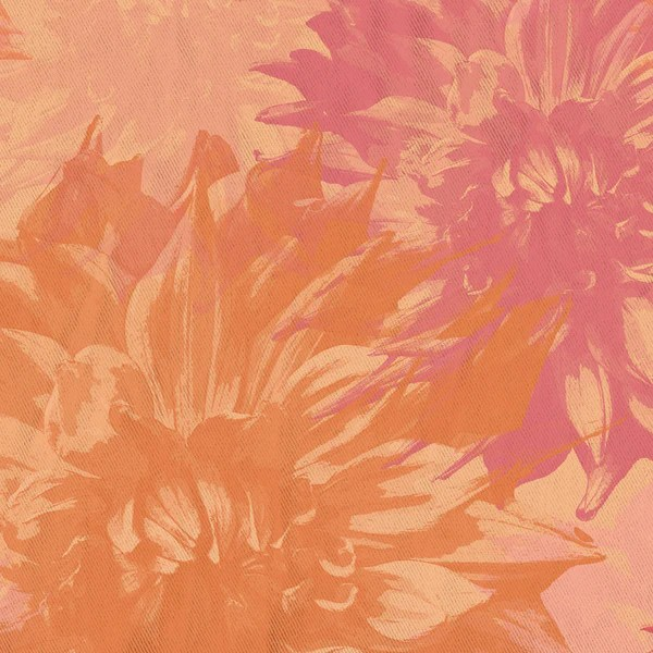 Peach And Pink Dahlia Floral Shower Curtain Metro Shower Curtains