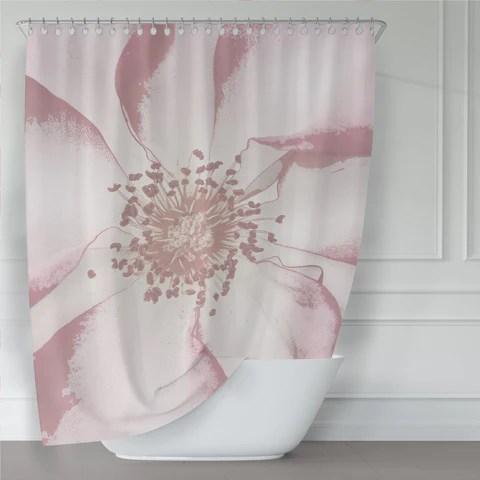pink shower curtains metro shower