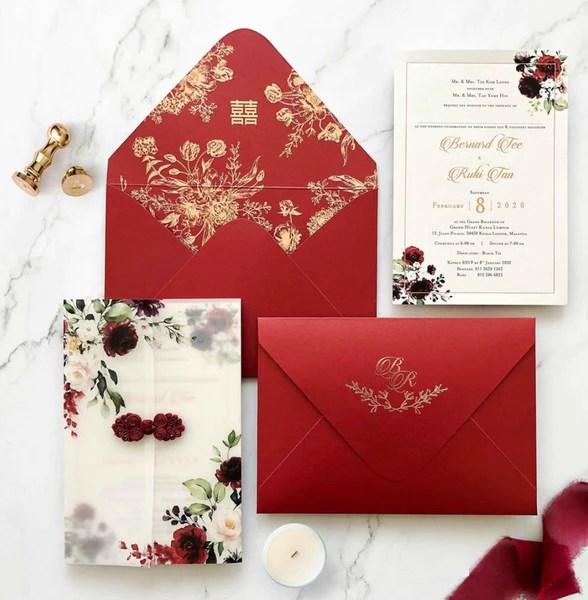 38 modern chinese wedding invitation