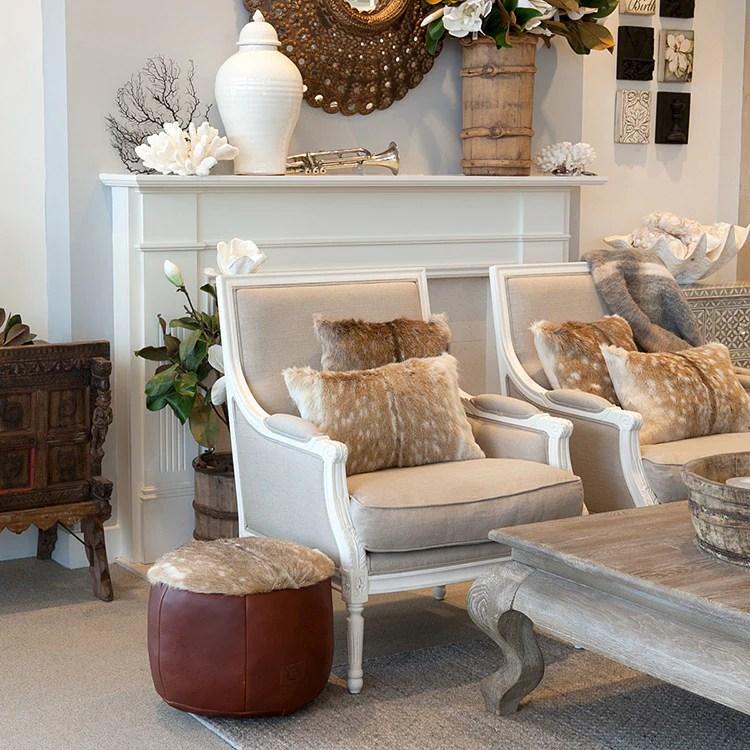 hudson furniture florida chair linen white