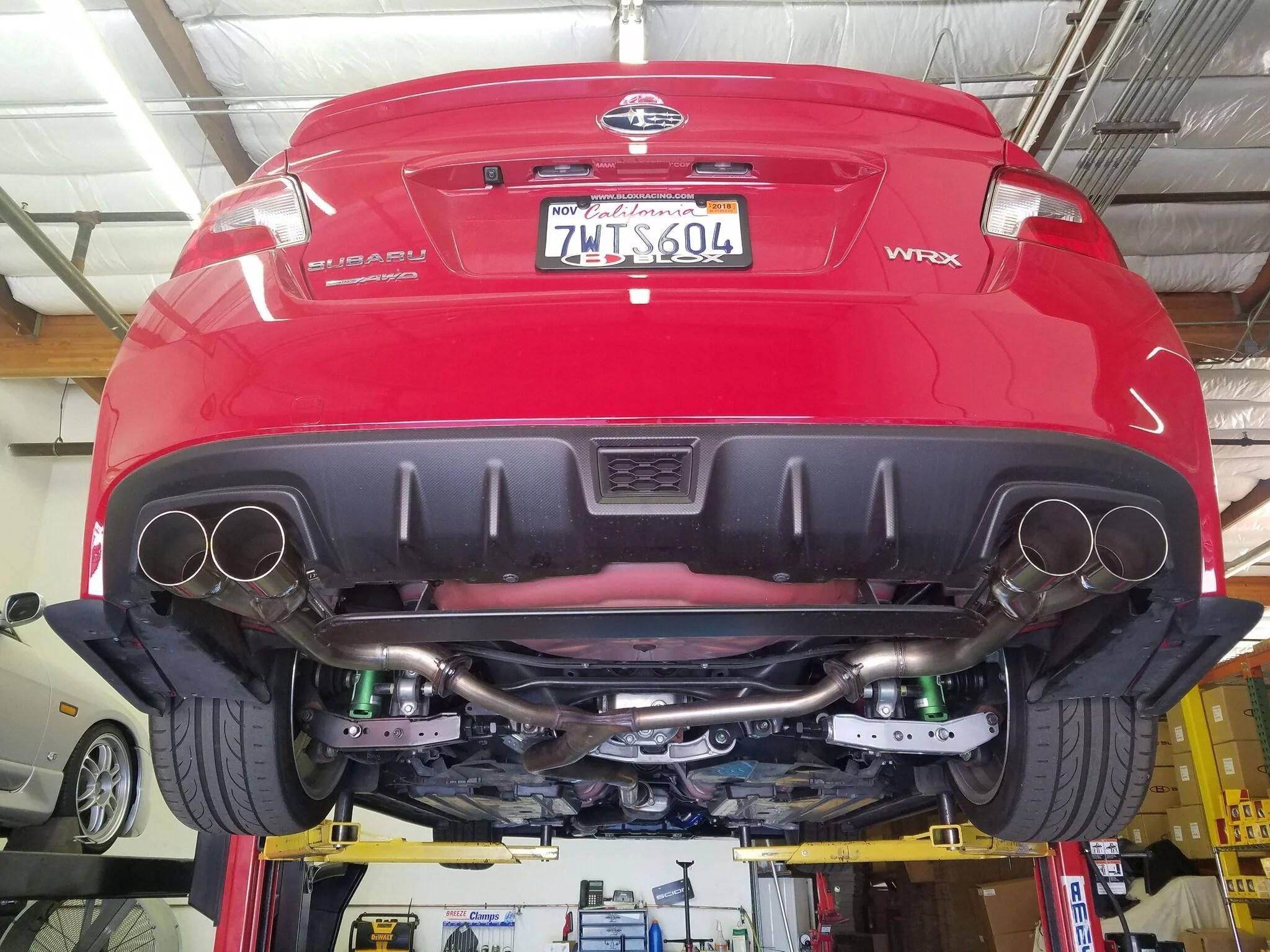 blox muffler delete exhaust subaru wrx sti 2015 2020 polished or black
