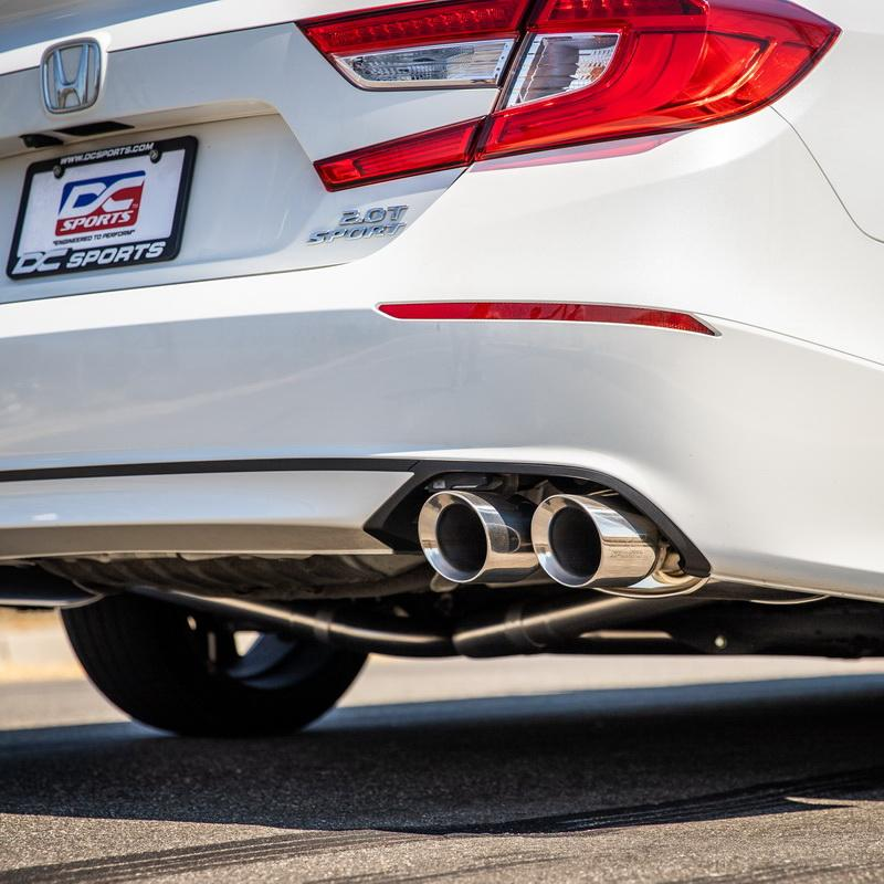 dc sports catback exhaust honda accord 1 5t or 2 0t turbo 2018 2019 2020 2021 3 w polished or blue tips