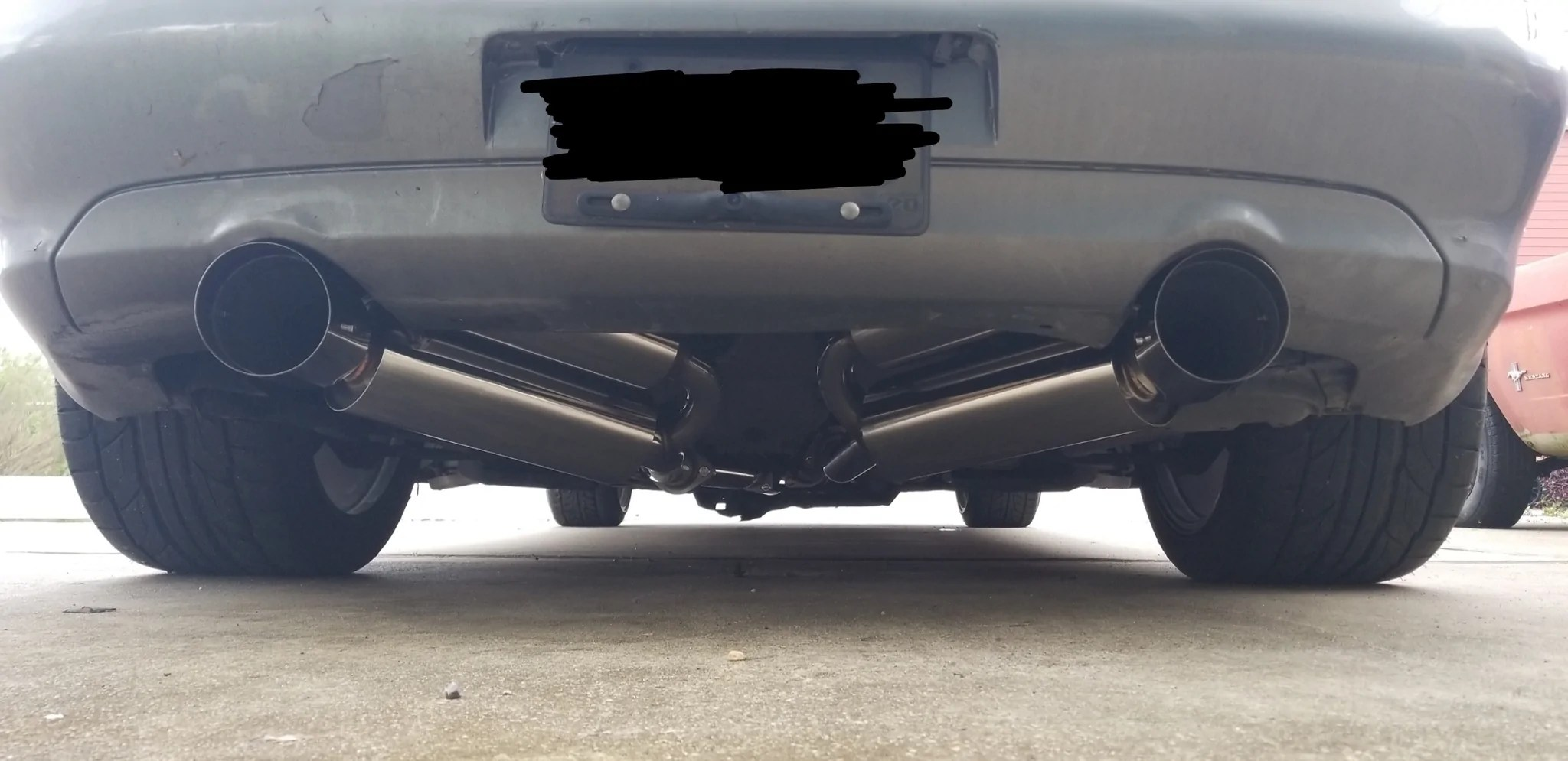 rev9 catback exhaust nissan 350z 03 08 g35 coupe rwd 03 06 polished 4 5 tips