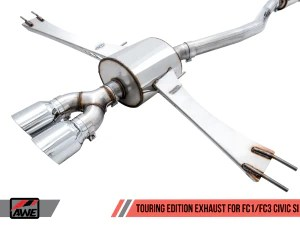 awe exhaust honda civic si 1 5l sedan coupe 17 20 track or touring edition w front pipe