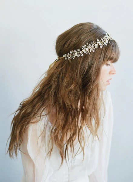 Bead And Crystal Clusters Lush Hair Vine Style 7003