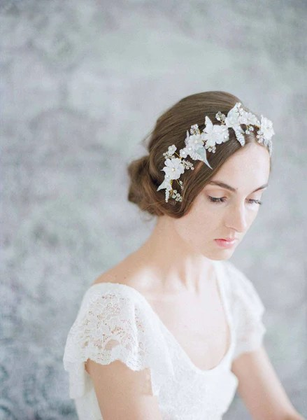 Bridal Floral Hair Adornment Lightness And Frost Floral