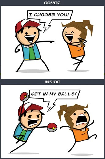 Cyanide Amp Happiness Get In My Balls Greeting Card The