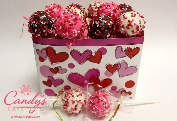 Valentines Day Heart Cake Pop Gift Box Candys Cake Pops