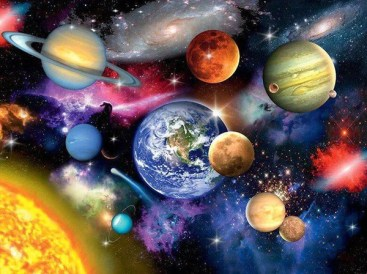 Planets & Galaxy DIY Painting Kit – Paint by Diamonds