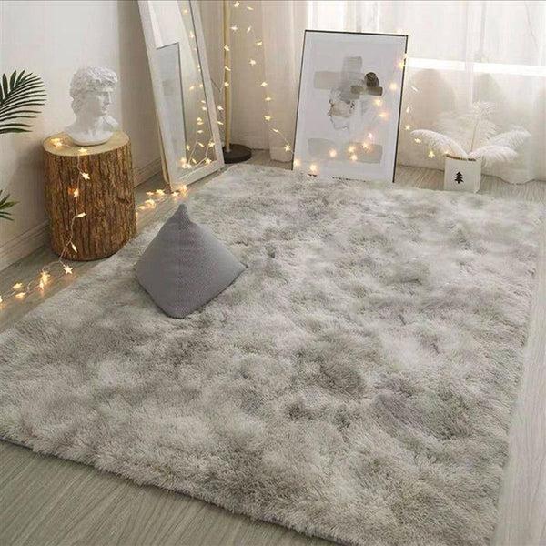 tapis decoratif gris clair