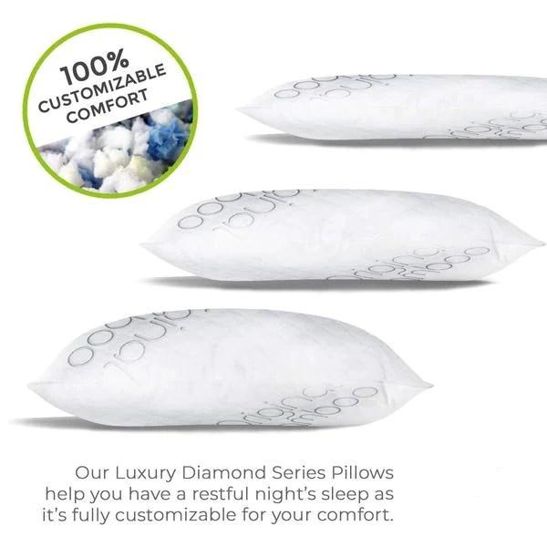 premium luxury shredded memory foam adjustable pillow