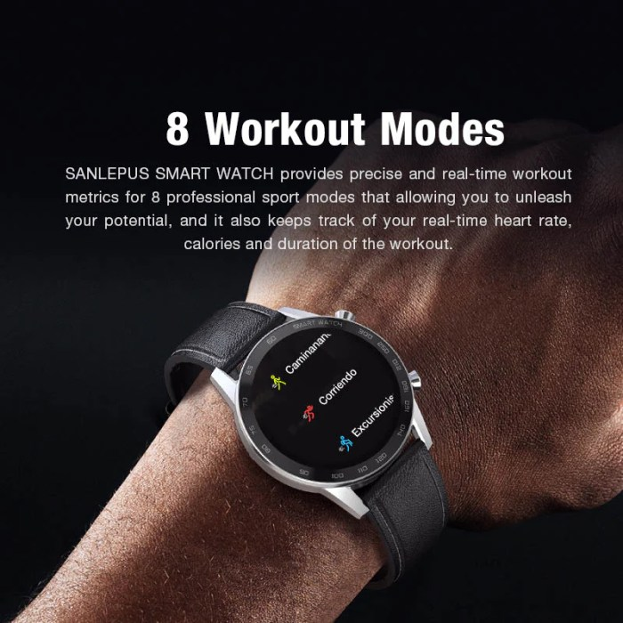 2020 SANLEPUS Bluetooth Calls Smart Watch For Men IP68 Waterproof Smartwatch Health Monitor For Android Apple 4