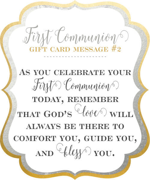 10 first communion gift card messages