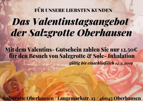 Valentinstag 2019 In Der Salzgrotte Das Angebot Salzgrotte Oberhausen