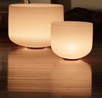 Crystal Singing Bowls with light