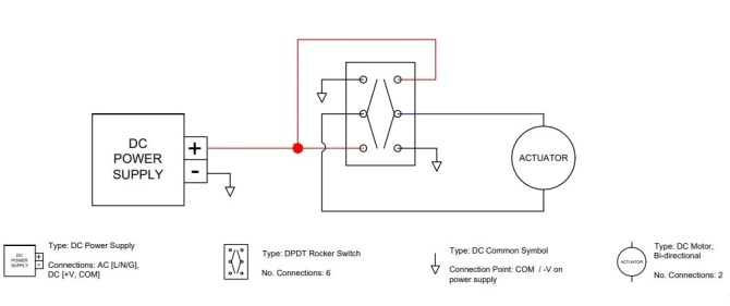 12 volt electric linear actuator wiring diagrams