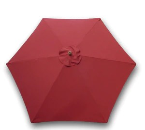 9ft market patio umbrella 6 rib