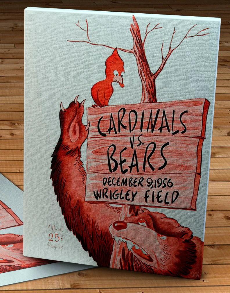 1956 vintage chicago cardinals chicago bears football program cover moonlightsports