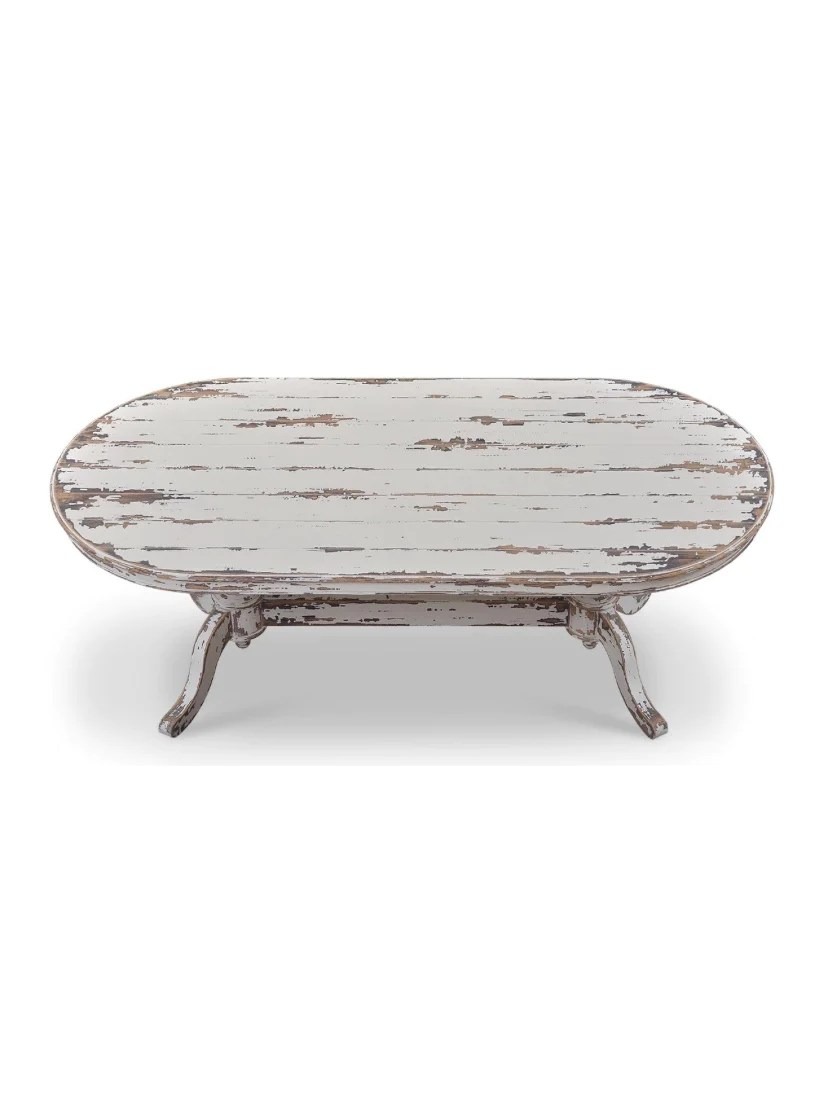 farmhouse oval dining table primative distressed