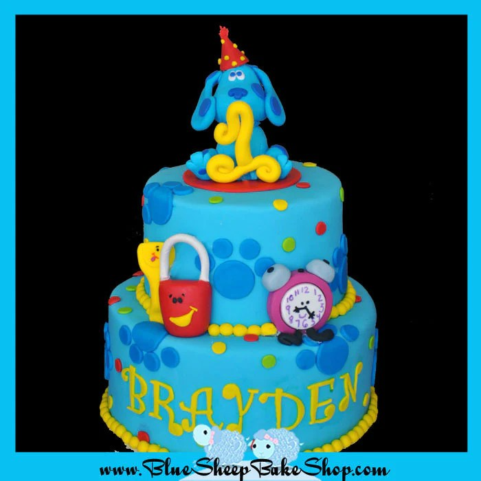 Blues Clues Themed 1st Birthday Cake Blue Sheep Bake Shop