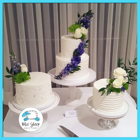 Classic Buttercream Wedding Cakes   Blue Sheep Bake Shop best buttercream wedding cakes nj