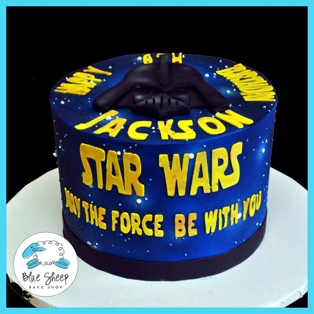 Star Wars Birthday Cake Blue Sheep Bake Shop