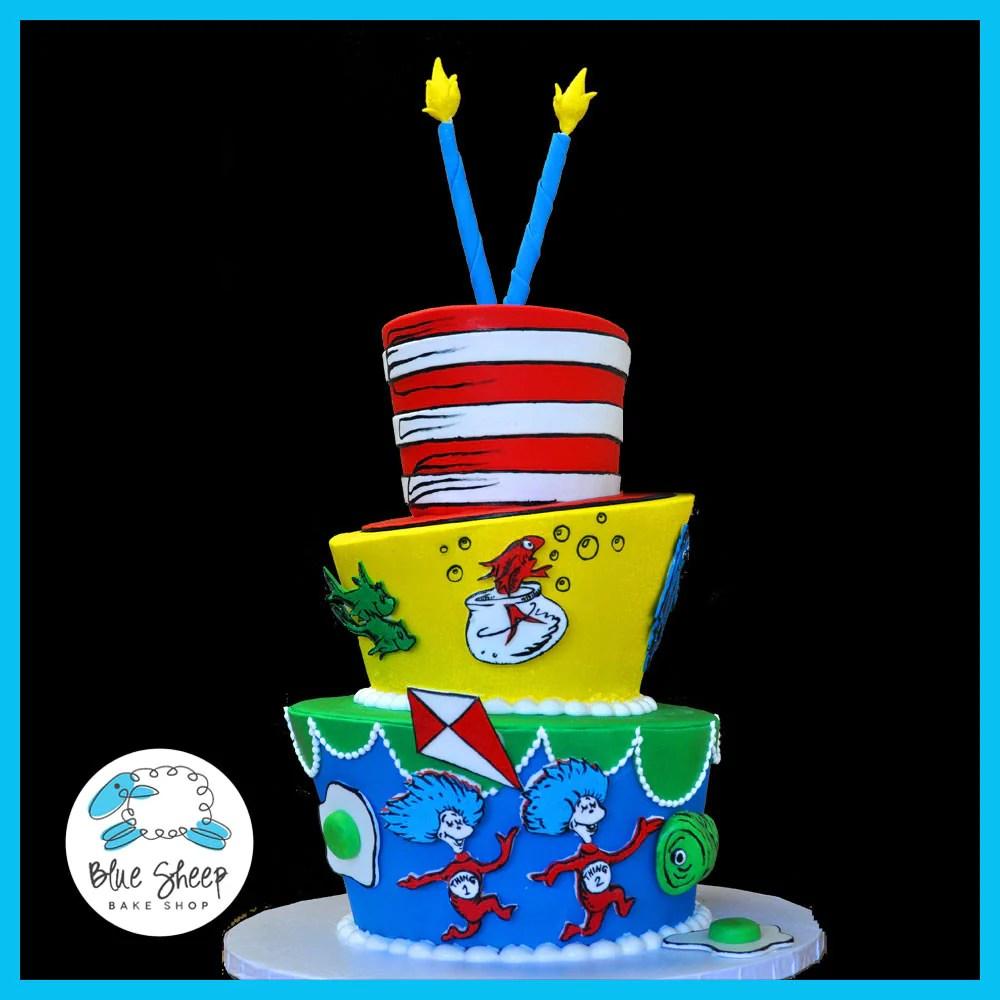 Dr Seuss Birthday Cake Blue Sheep Bake Shop