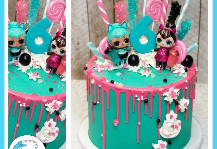Olivias Lol Doll Drip Cake Blue Sheep Bake Shop
