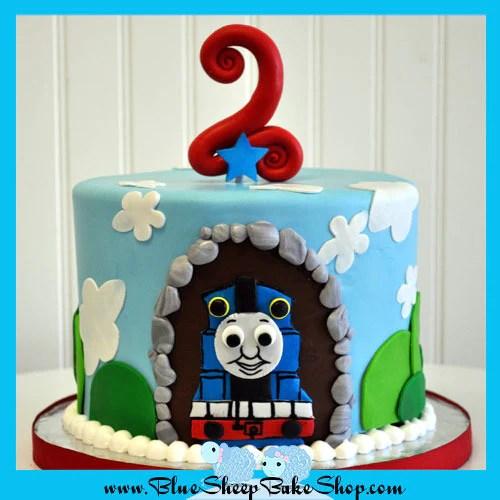 Thomas The Train Cake Birthday Cake Blue Sheep Bake Shop