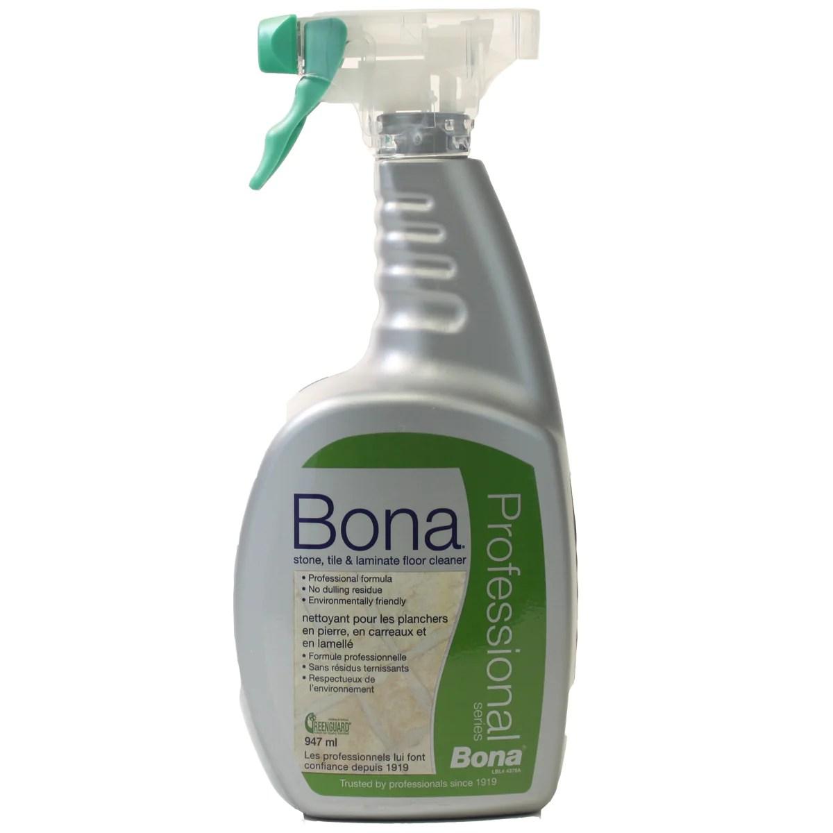 bona stone tile and laminate floor cleaner pro series spray 32oz