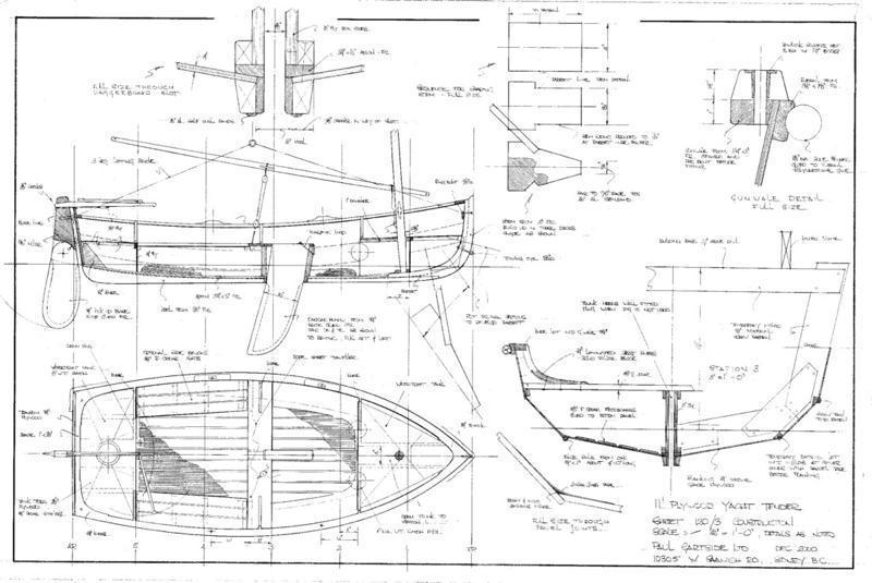 Gartside Boats 11 Ft Plywood Yacht Tender Design 120