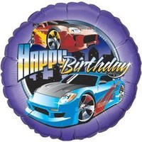 Hot Wheels Happy Birthday Balloon Balloonsforeverythingonline