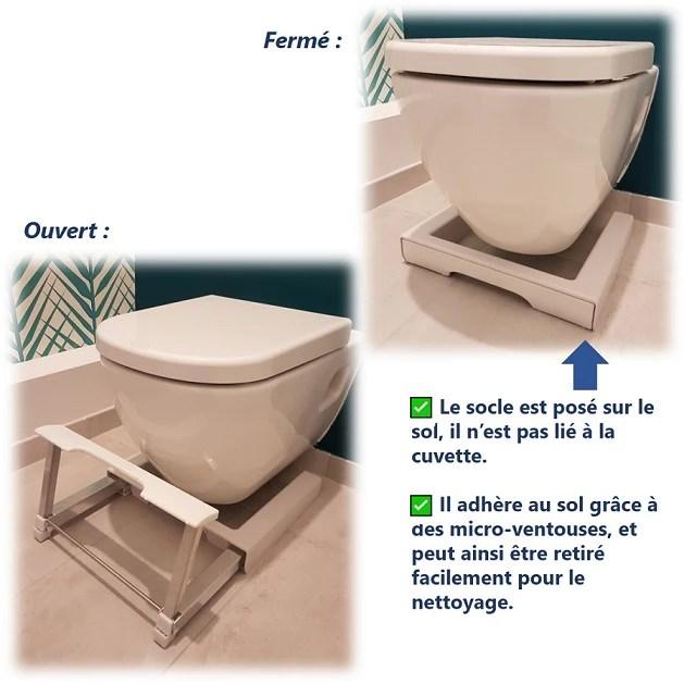 Marche Pied Physiologique De Toilette Pliant Fabrique En France