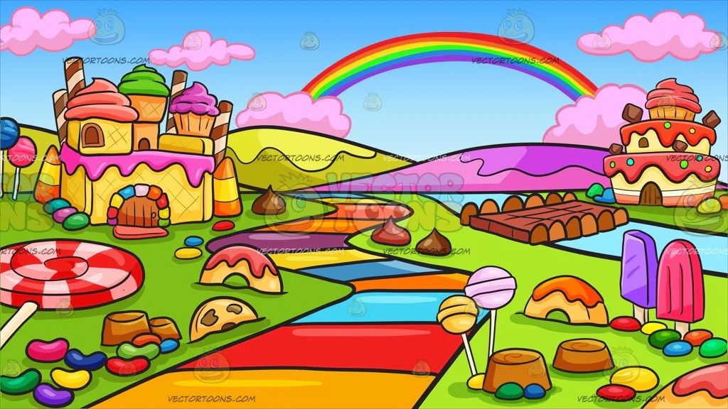 A Candy Land Background Clipart Cartoons By Vectortoons