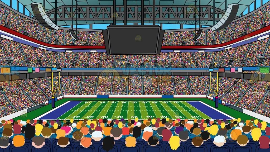 A Football Stadium Background - Clipart Cartoons By ... (1024 x 576 Pixel)