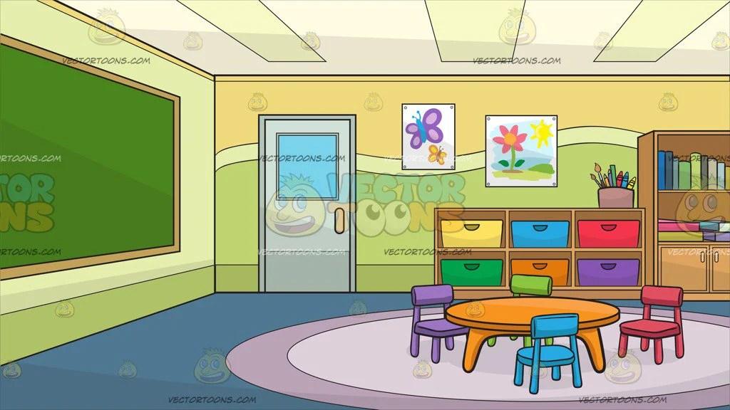 Inside A Kindergarten Classroom Background - Clipart ... (1024 x 576 Pixel)