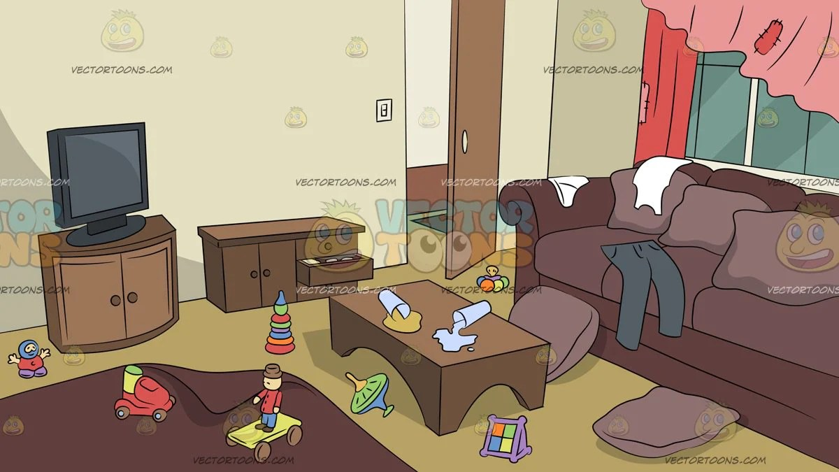 Untidy Living Room Background - Clipart Cartoons By ... (1200 x 675 Pixel)