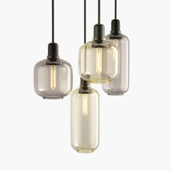 Amp Lamp   Green/Gold   Small by Simon Legald for Normann ...