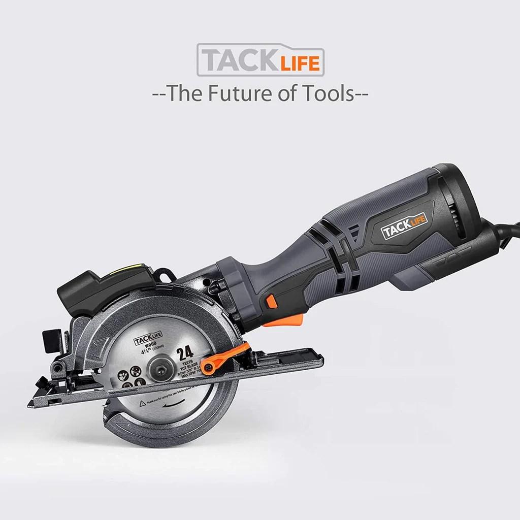 tacklife circular saw with metal handle