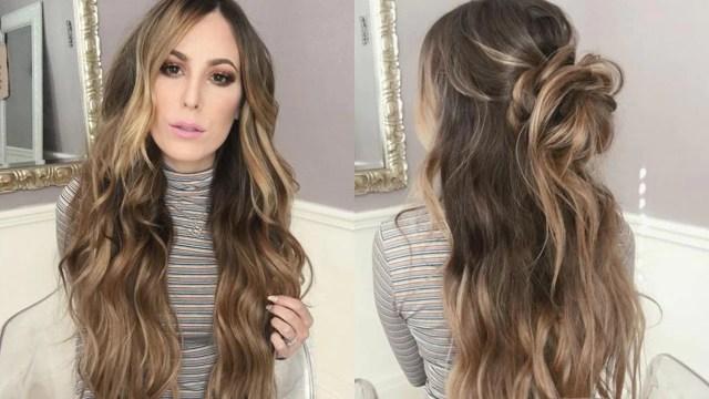 how to style long hair: beach waves & messy bun – luxy hair