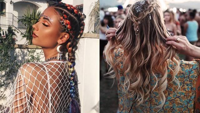festival hair: coachella hair ideas + easy hairstyles for