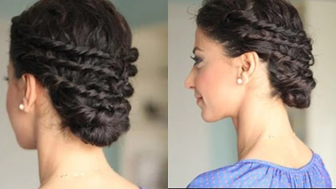 easy updo for naturally curly hair – luxy hair
