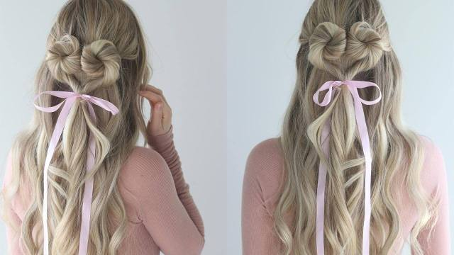heart twist hairstyle - perfect for valentine's day – luxy hair