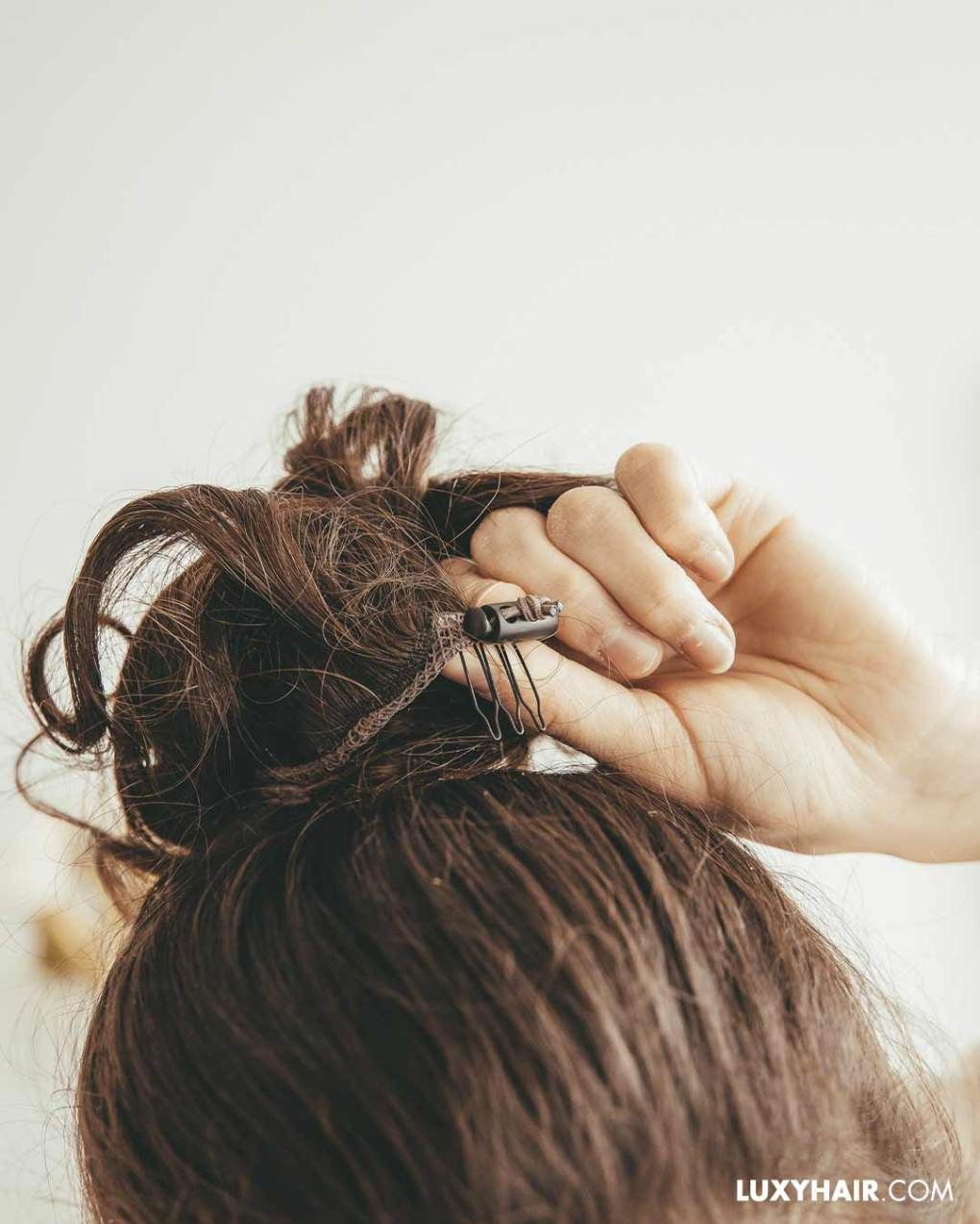 Messy bun hair piece