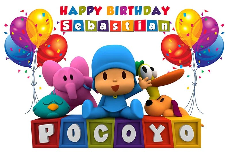 Cartoon Characters Pocoyo Backdrop Boys Birthday Party Background Photo Decor Party Decorations Patterer Home Garden