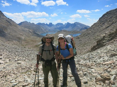 Anastasia and Aaron on the Wind River High Route